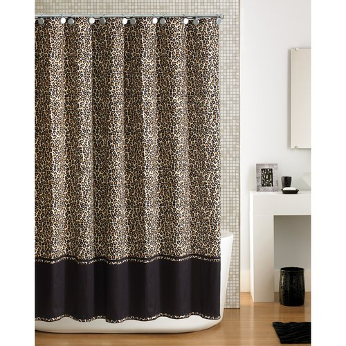 Hometrends Cheetah Shower Curtain