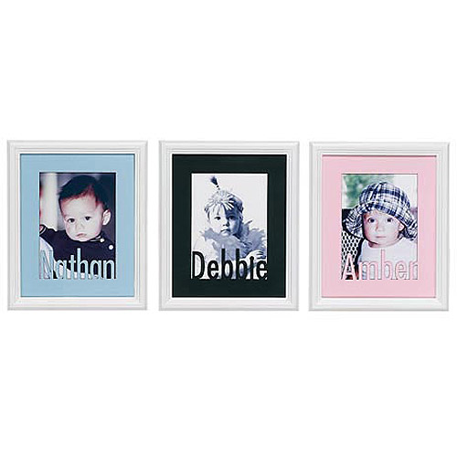 Personalized Baby Name Frame - Pink Mat