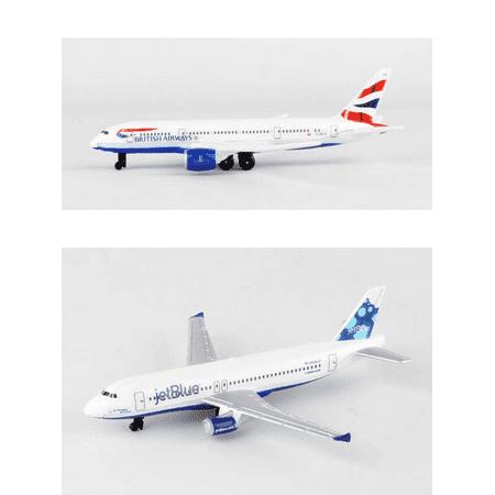 British Airways, Jetblue Airlines Diecast Airplane Package - Two 5.5