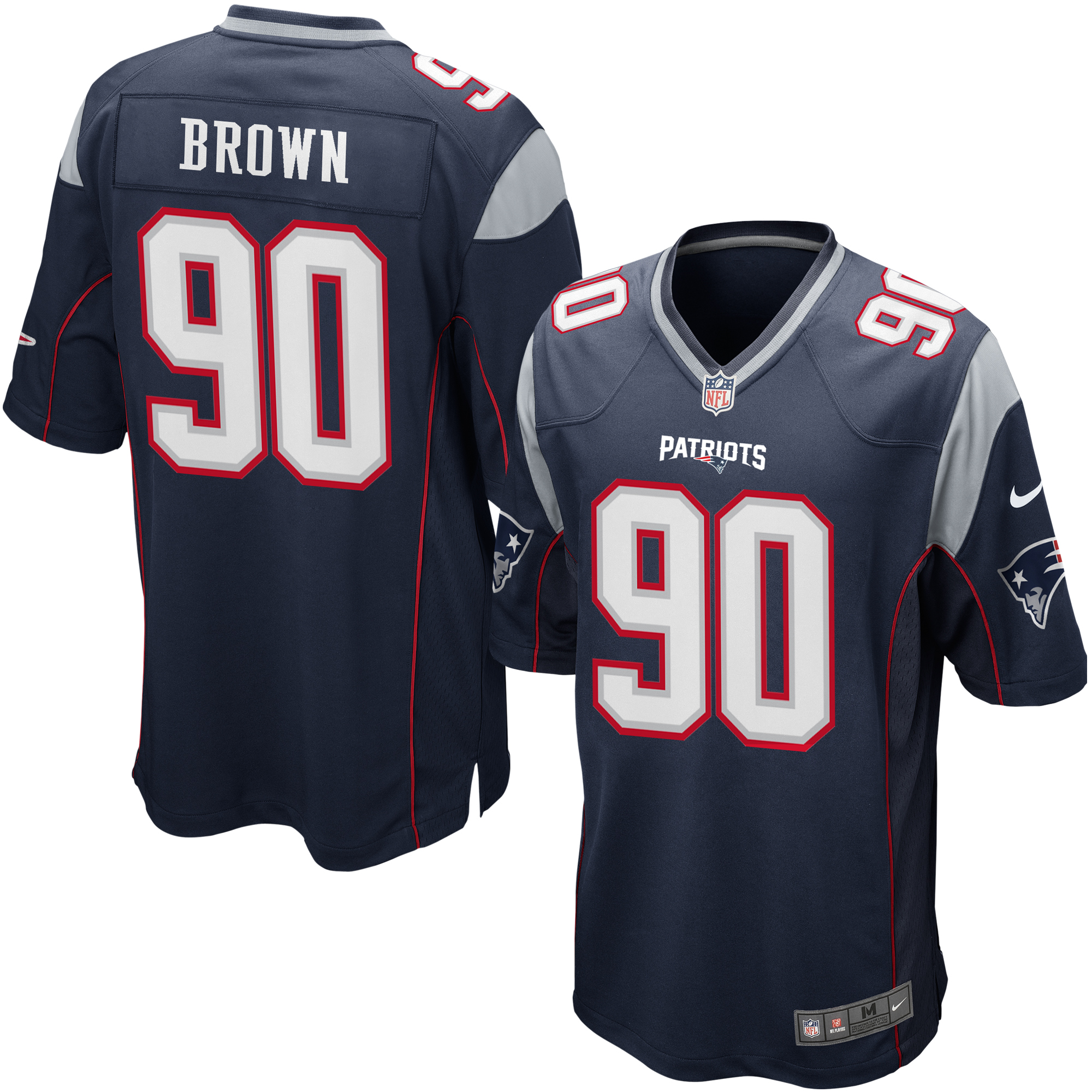 Hot Malcom Brown New England Patriots Nike Game Jersey Navy