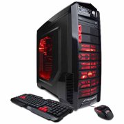 X-Titan Mid-Tower Gaming Case with DVD+/-RW Drive, Bundle Only, Black