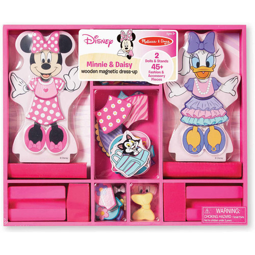 Melissa & Doug Disney Minnie Mouse and Daisy Wooden Magnetic Dress-Up