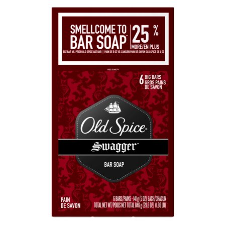 (2 pack) Old Spice Red Zone Swagger Scent Men's Bar Soap 6 Bar 5 oz