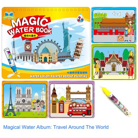 Clearance! Children Kid Educational Toys Magic Water Drawing Book Album Magic Graffiti Baby Painting Kindergarten Scene Facsimile Coloring Book - Toddler Halloween Coloring Pages Printable