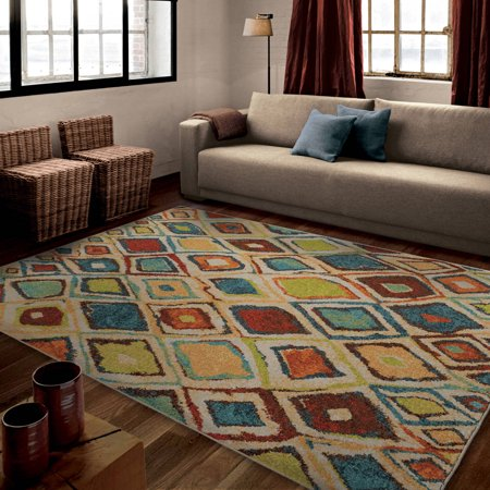 orian rugs bright color geometric dazzling diamond multi area rug. Black Bedroom Furniture Sets. Home Design Ideas