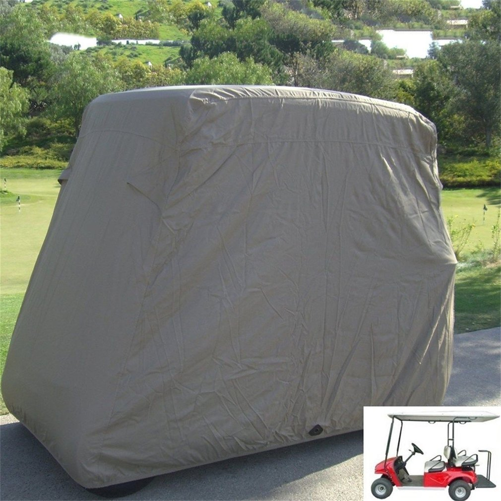 "4 Passenger Golf Cart Cover 80"" Roof Waterproof Dustproof Sunproof Club Car Storage Cover For EZ Go Club Car (Taupe)"
