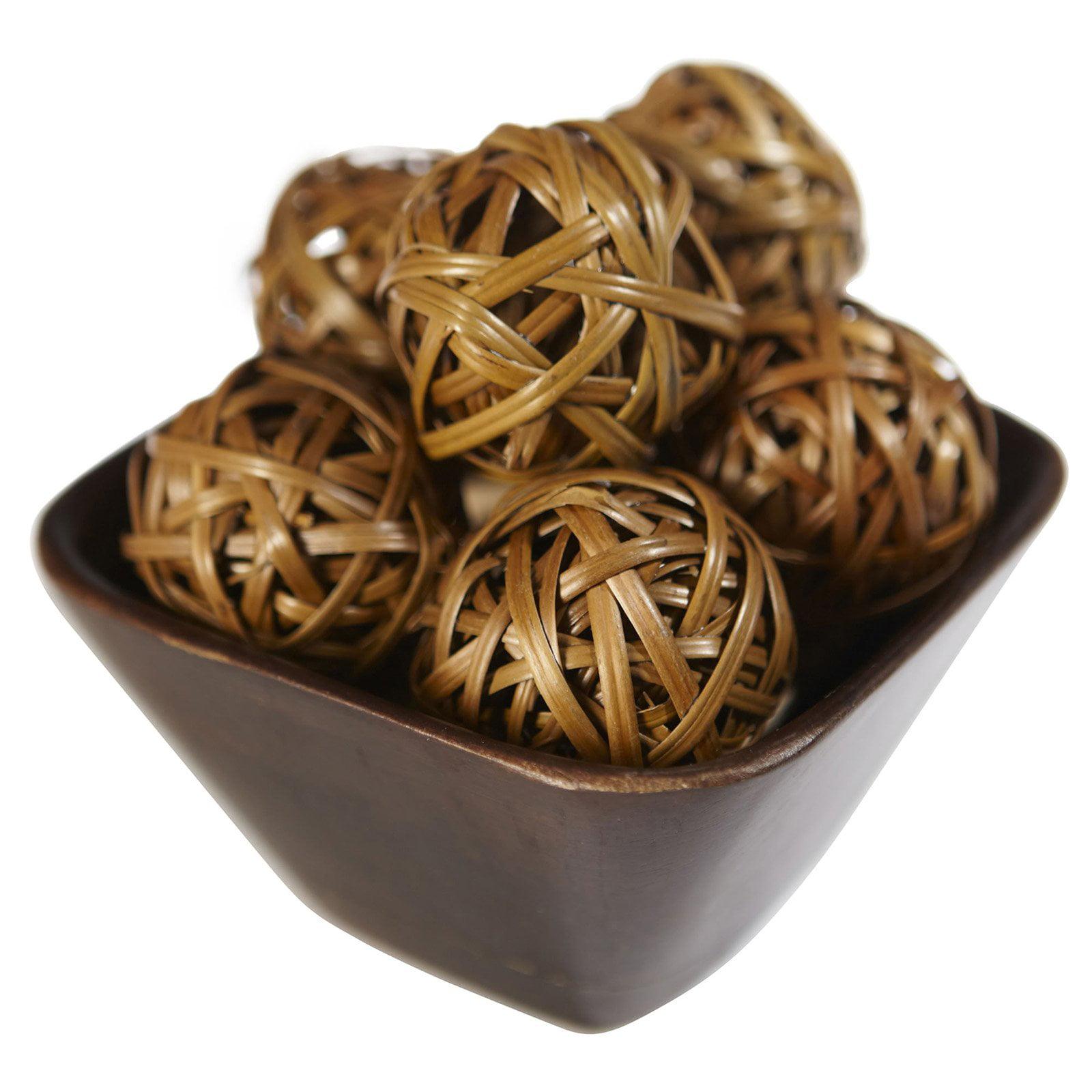 Nearly Natural 12pk Decorative Balls, Brown