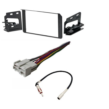 Metra 95-3003G Double DIN Stereo Installation Dash Kit Chevy GMC Cadillac Set W/ HARNESS AND ANTENNA
