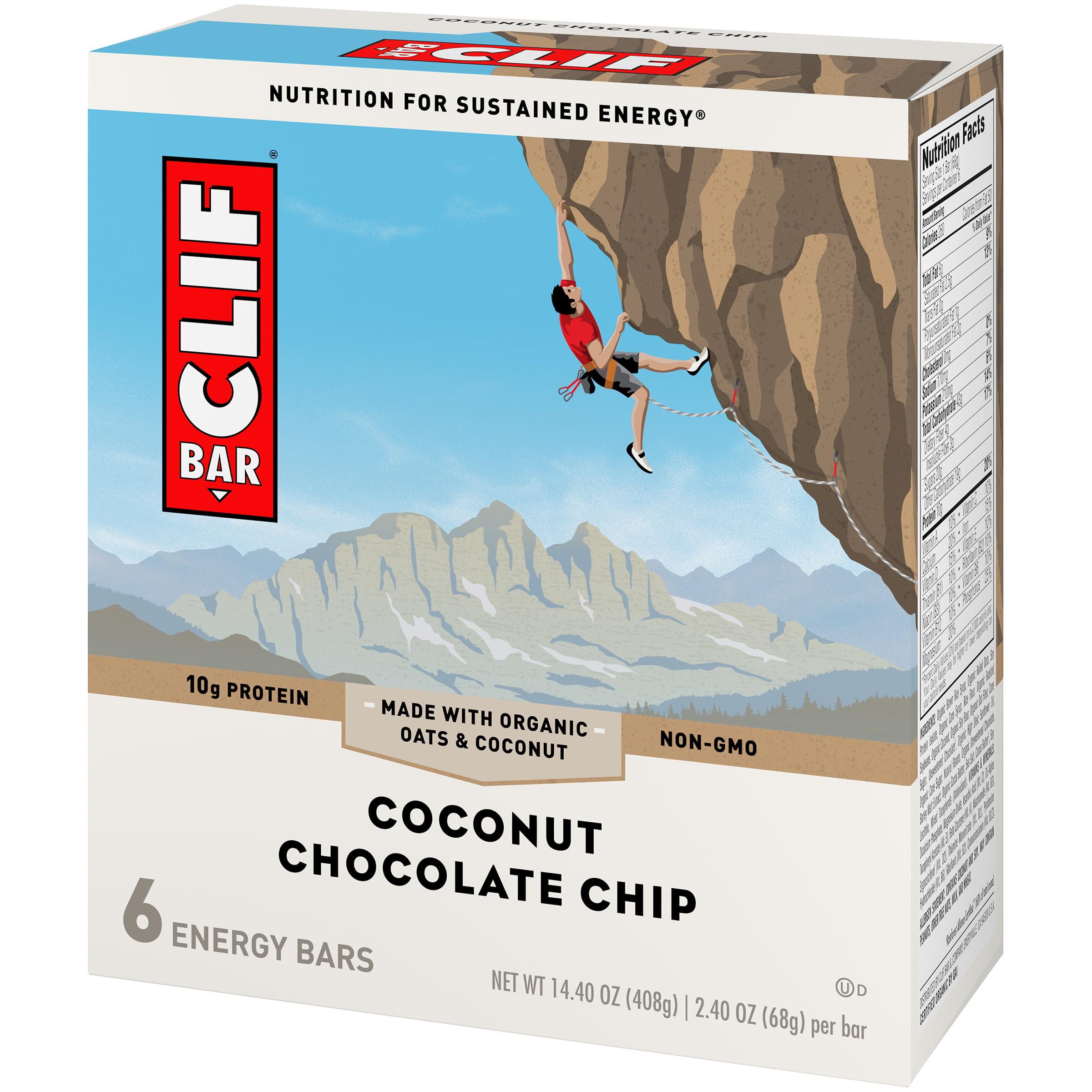 Clif Bar® Coconut Chocolate Chip Energy Bars 6-2.4 oz. Bars ...