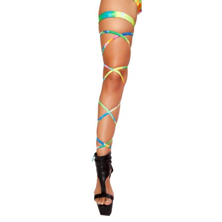 100  Tie Dye Leg Strap with Attached Garter](Leg Garters With Straps)