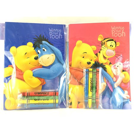 Party Favors Winnie-the-Pooh Coloring Book & Crayon Set 12 Pack ( Assorted Style), Package Included 12 Set ( Assorted Style) By Winnie the Pooh