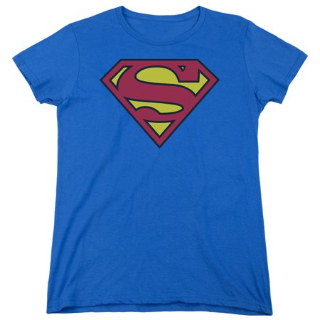 Superman Classic Logo Womens Short Sleeve Shirt for $<!---->