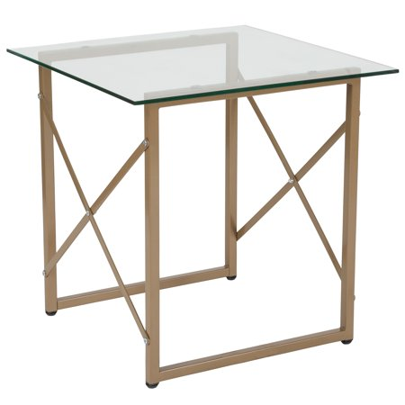 Mar Vista Collection Side Table with Metal Frame ()