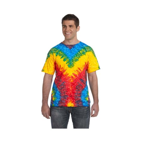 Rainbow Lightweight Jersey (Tie-Dye Men's Shoulder Taping Tie-Dyed Jersey T-Shirt, Style)