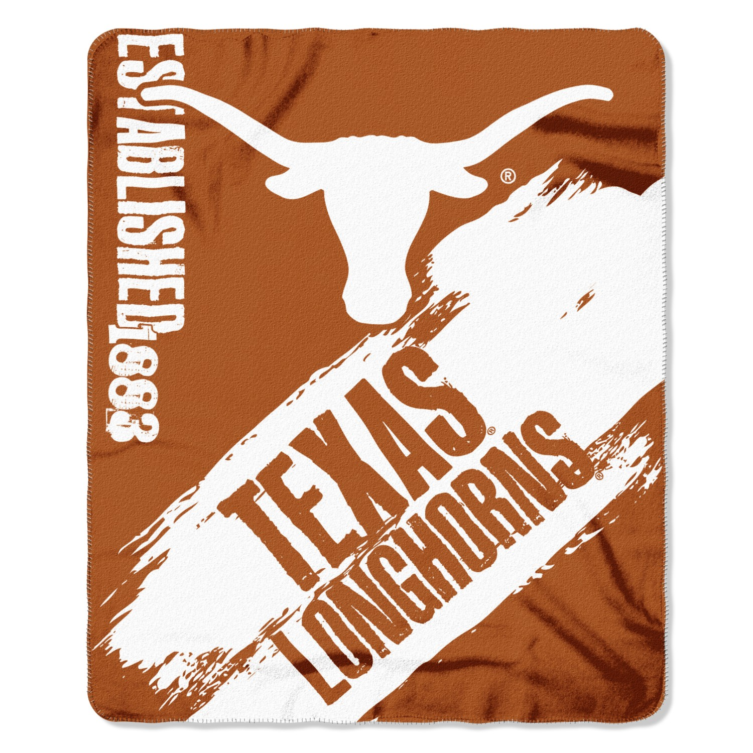 Texas Longhorns Painted Fleece Throw