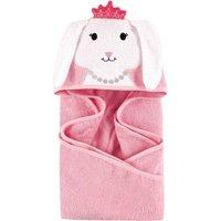 Hudson Baby Woven Terry Animal Hooded Towel, Princess Bunny