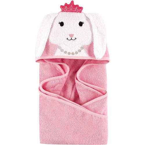 Hudson Baby Woven Terry Animal Hooded Towel, Princess Bunny