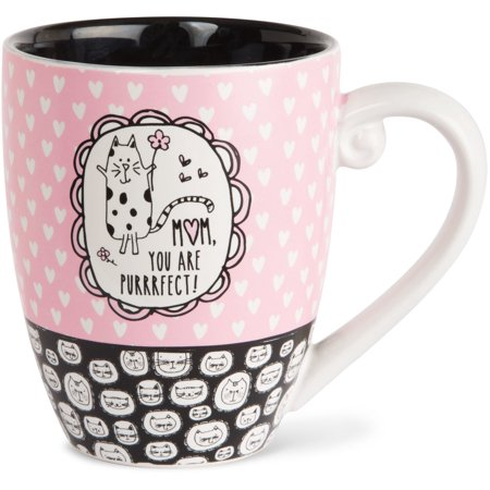Pavilion - Mom, You Are Purrrfect! High Quality Ceramic Extra Large Coffee Mug Tea Cup 20 oz ()