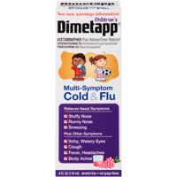 Dimetapp Children's Multi-Symptom Cold & Flu Red Grape Flavor, 4.0 FL OZ