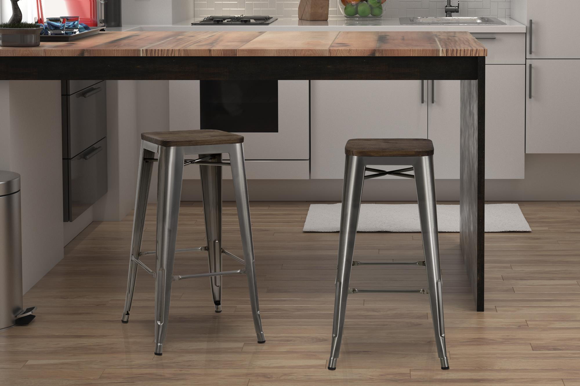 Amazing Dorel Home Products Fusion 30 Metal Backless Bar Stool With Gmtry Best Dining Table And Chair Ideas Images Gmtryco
