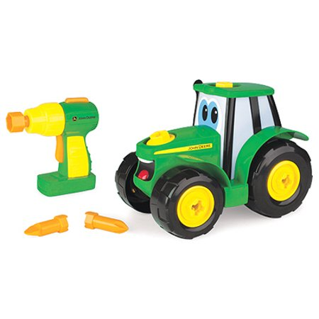 Johnny Tractor (John Deere Toddler Toy Tractor, Build-A-Johnny Tractor with Pretend Drill)