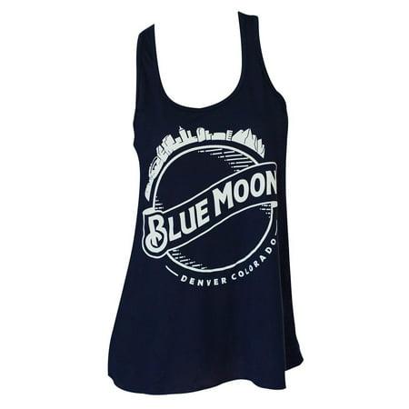 Blue Moon Skyline Flowy Midnight Tank Top