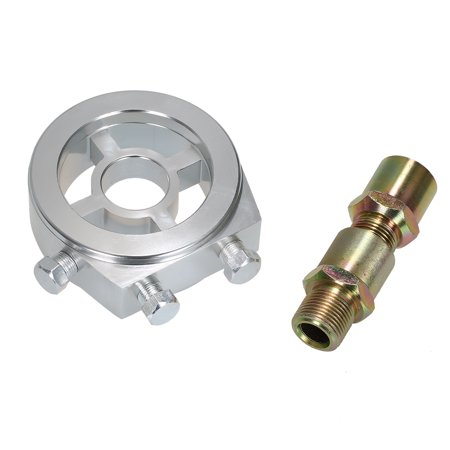 Universal Car Oil Filter Cooler Sandwich Plate Adapter for Oil Temperature & Oil Pressure (Bbc Oil Filter Adapter)
