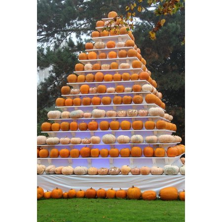 Canvas Print Deco Pumpkin Pyramid Autumn Halloween Europa Park Stretched Canvas 10 x 14](Europa Park Halloween Show)