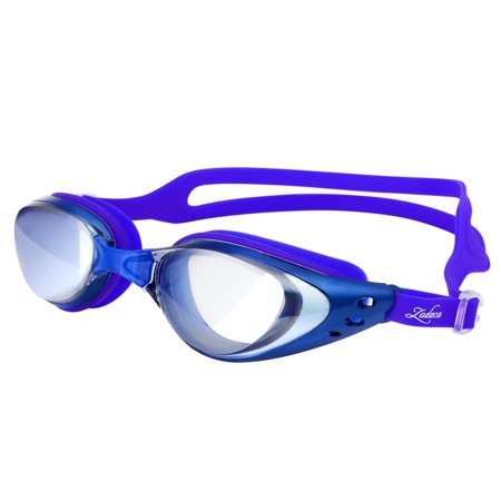 Zodaca Adjustable Eye Protect Non-Fogging Anti UV Swimming Goggle Glasses Adult Blue (with Storage Case & Ear plugs & Nose bridges)