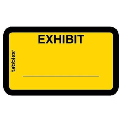 Tabbies Tabbies Color-coded Exhibit Labels TAB58090