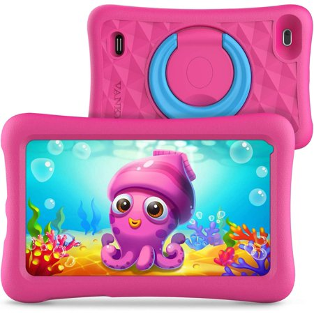 Vankyo MatrixPad Z1 Kids Tablet 7 inch, 32GB ROM, Kidoz Pre Installed, IPS HD Display, WiFi Android Tablet, Kid-Proof Case, Pink ()