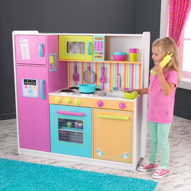(48% OFF Deal) Wooden Deluxe Big & Bright Kitchen W/ Accessories $99.00