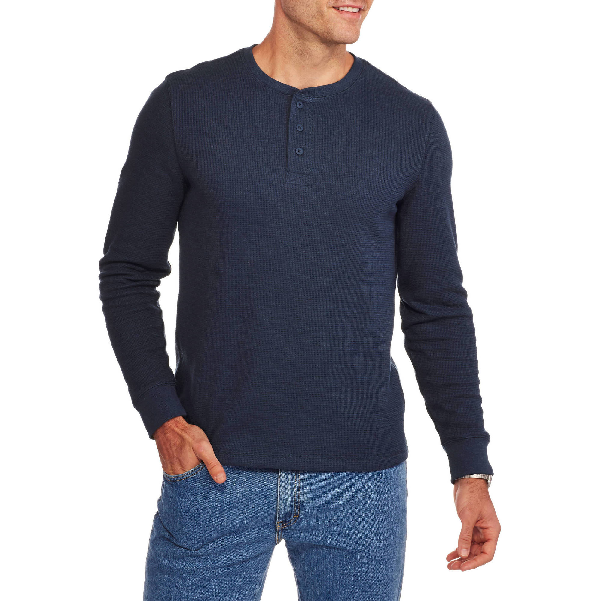 Faded Glory Big & Tall Men's Long Sleeve Thermal Henley