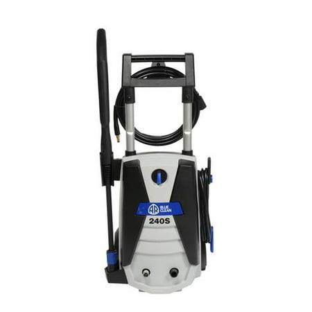 AR Blue Clean 1700 PSI Electric Pressure Washer, Spray Gun, Hi-Lo Spray Lance Nozzle, 20 Foot High-Pressure Soft PU Hose, 35 Foot Power Cord, 28 oz Detergent Tank, Garden Hose adapter, AR240S