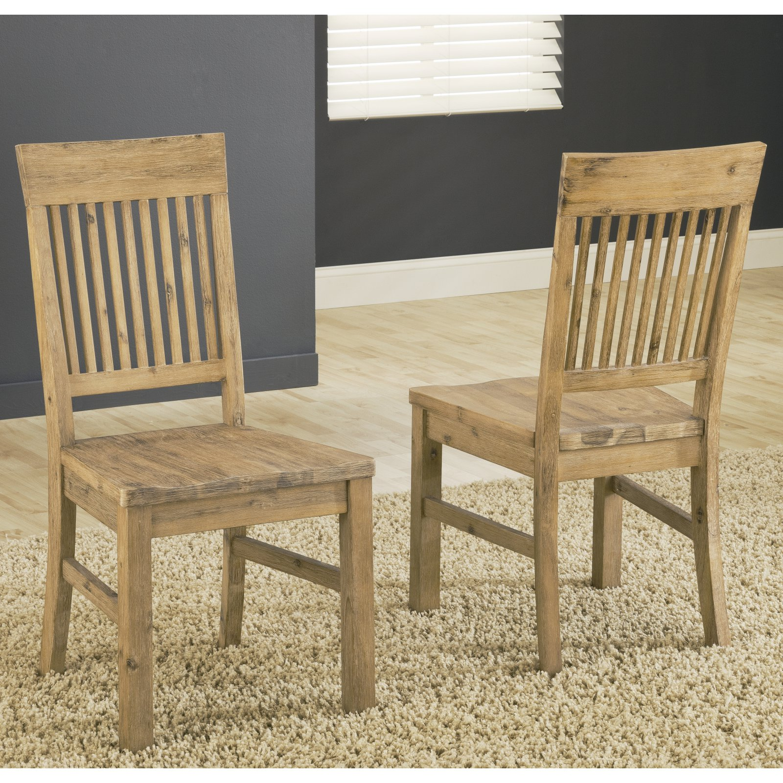 Modus Autumn Solid Wood Dining Side Chair - Cider - Set of 2