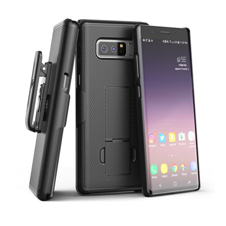 Encased Galaxy Note 8 Belt Clip Case, Slim Fit Holster Shell Combo (Rubberized Non Slip) for Samsung Galaxy Note 8