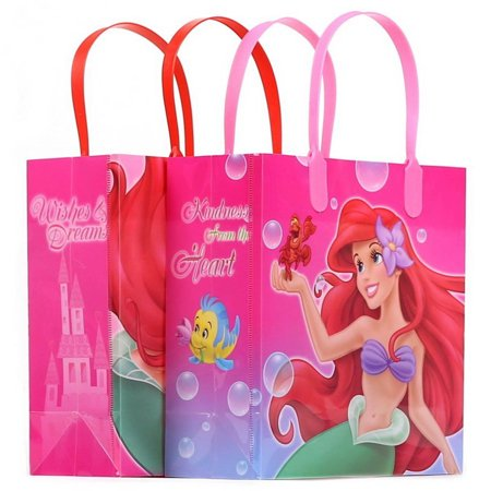 Little Mermaid 12 Authentic Licensed Party Favor Reusable Goodie Medium Gift Bags 8