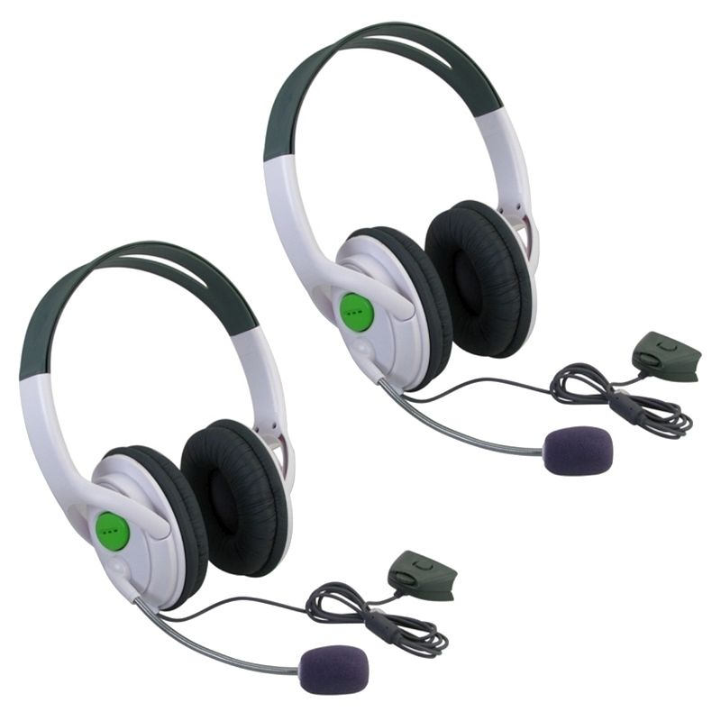 Insten 2 Packs Live Gaming Headset Headphone With Microphone Mic for XBOX 360 Slim / XBOX 360
