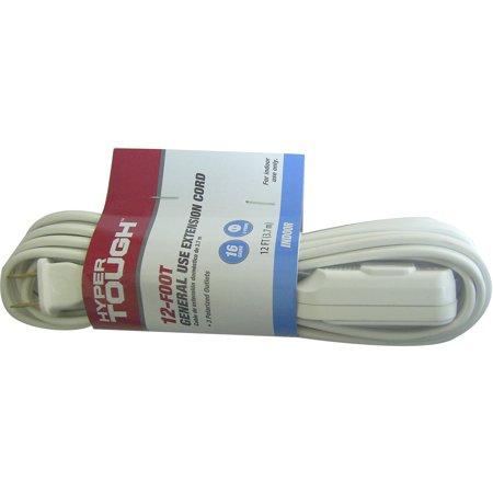 Hyper Tough 12' 16/2 SPT-2 White Indoor Extension Cord