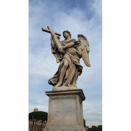Laminated Poster Sculpture Angels Bridge Rome Statue Angel Poster Print 11 x 17