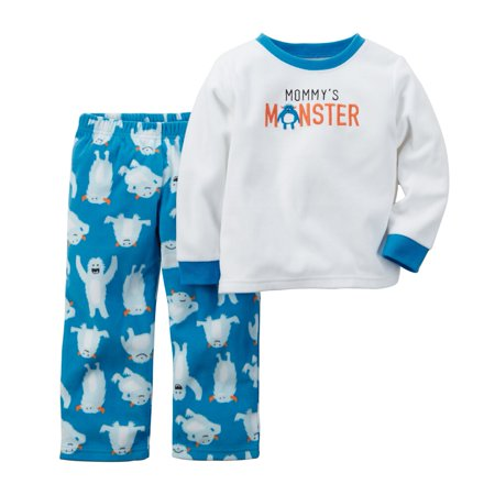 Toddler Clothing Outfit Little Boys 2-Piece Fleece PJs Mommys Monster