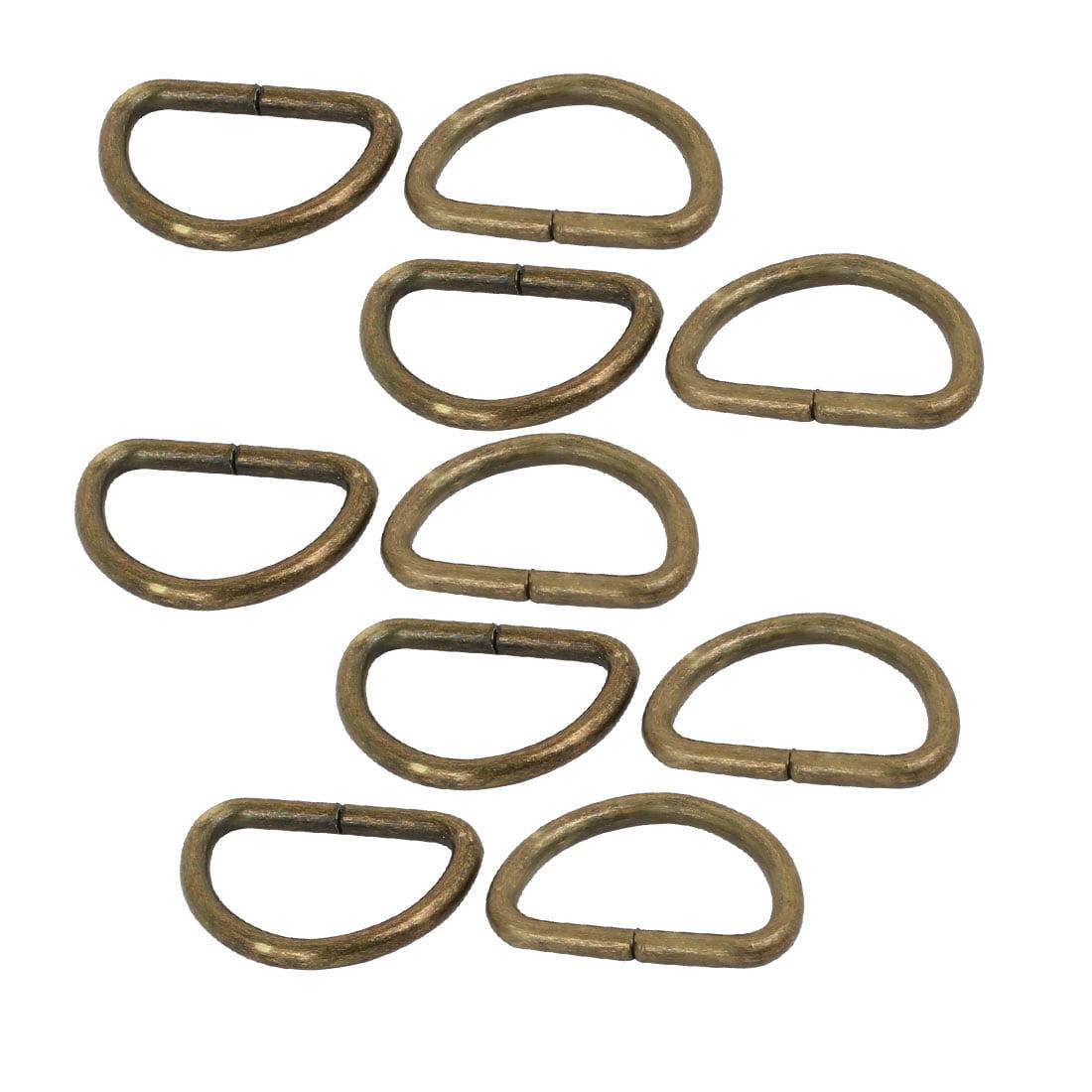 15mm Large interne Metal fer soudé non demi-ronde D permet ton bronze 10pcs - image 2 de 2