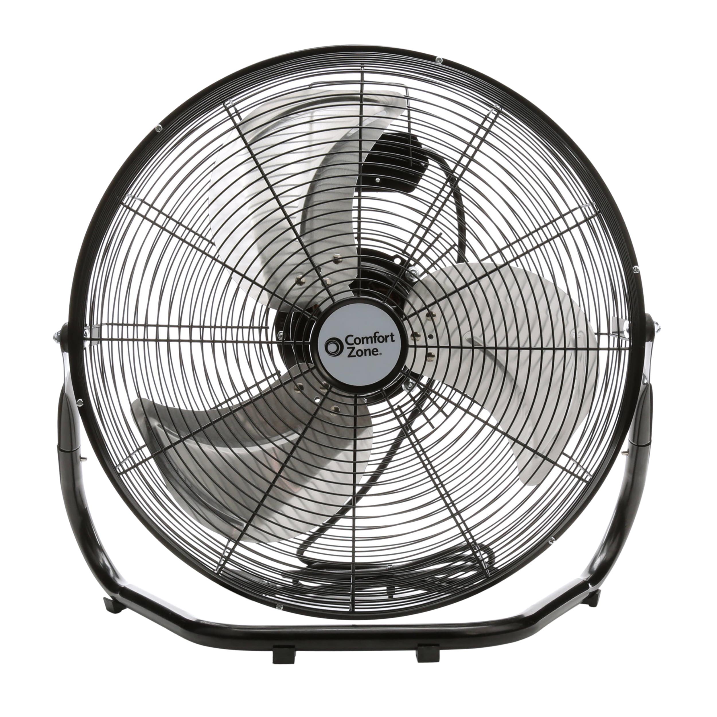 Comfort Zone 18'' High Velocity 3-Speed Fan, Model #CZHV18B, Black by World and Main, LLC