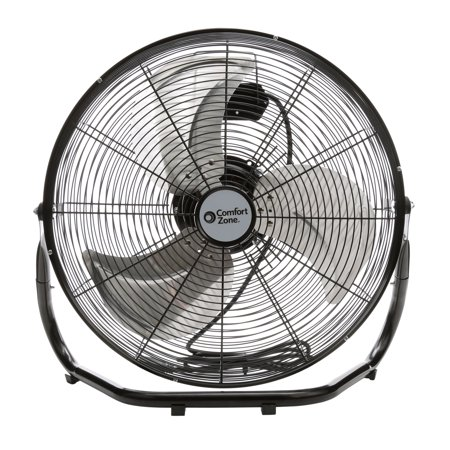Comfort Zone 18'' High Velocity 3-Speed Fan, Model #CZHV18B,