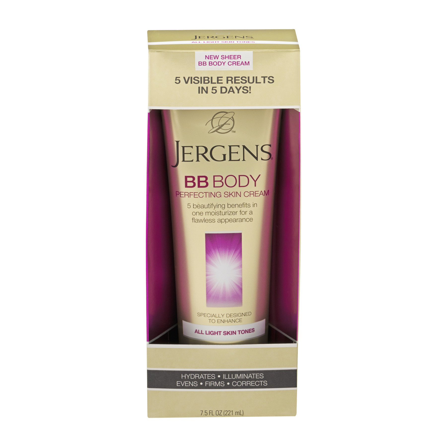 Jergens® All Light Skin Tones BB Body Perfecting Skin Cream 7.5 fl. oz. Box