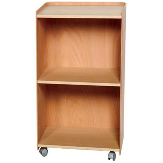 Whitehaus Collection  AECA38N 15 inch Aeri wood cart with three shelves and casters- Natural- Birchwood
