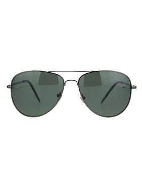 1d0627d01f97b Product Image Polarized Lens Mens Classic Pilots Metal Rim Officer Style  Sunglasses Silver Black