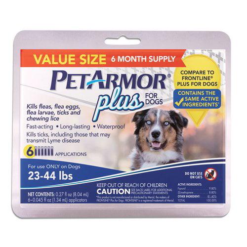PetArmor Plus for Dogs 23-44 lb, 6 ct + Pulgas y garrapatas de perro en VeoyCompro.net
