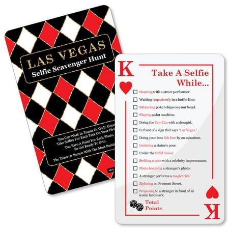 Casino Game Supplies (Las Vegas - Selfie Scavenger Hunt - Casino Party Game - Set of)