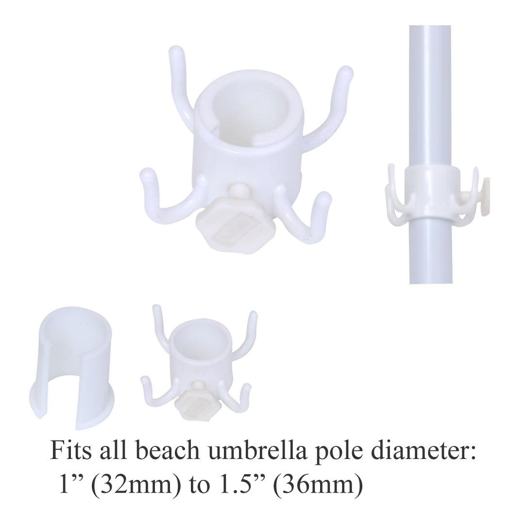 Beach Umbrella Hook for Hanging Towels / Bag / Camera - pole diameter 1 to 1.5 inch